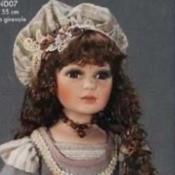 A fancy porcelain doll.