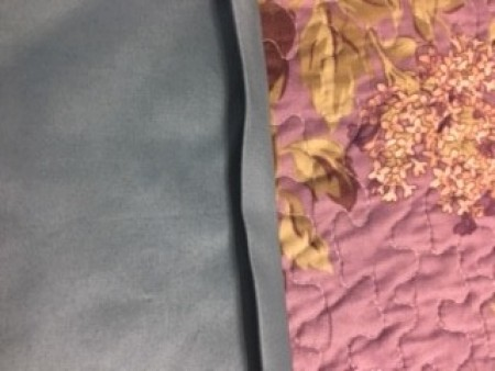 Bed Sheet Curtains - folding in side seams