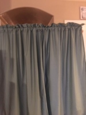 Bed Sheet Curtains - finished curtains