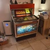 A vintage jukebox.