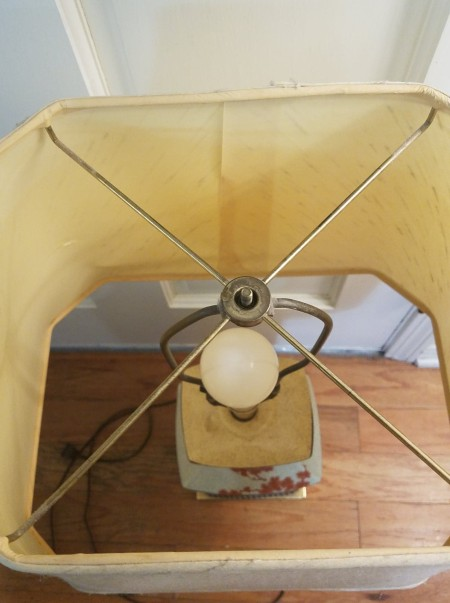 The top of a lamp.