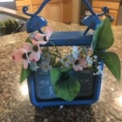 The finished decorative clock planter.