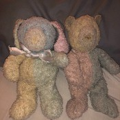 Two old stuffed bears.