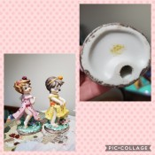 Two little girl figurines.