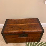 A wooden trunk.