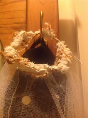 An old wedding veil.