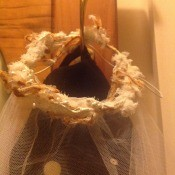 An old wedding veil.