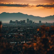 A view of the city of Phoenix.