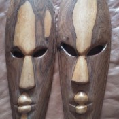 Origin of Mask?- two long narrow ovoid maskx
