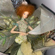 Possible Florence Maranuk Dolls? - fairy doll wearing green