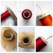 Pictures showing how to keep thread from unwinding.