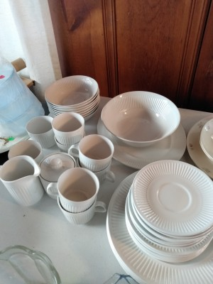 A collection of white dishware.