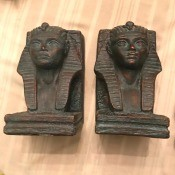 Egyptian Pharaoh book ends.
