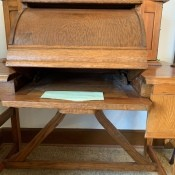 An old antique desk.