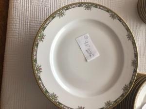 A china plate.