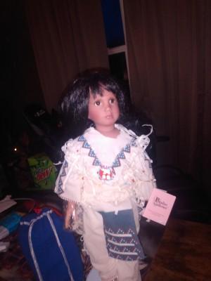A Native American doll.