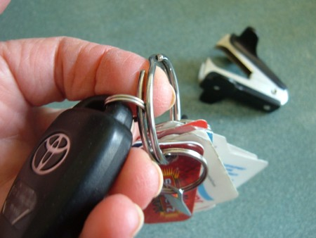 Adding the keys to the key ring.