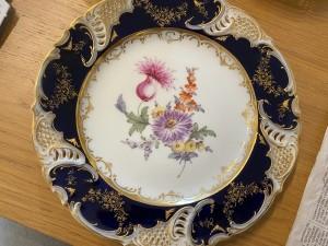 An ornate china plate.