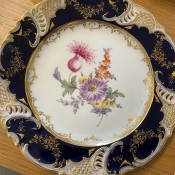 An ornate china plate.