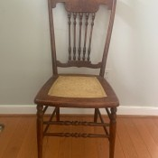 An old dining room chair.