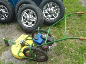 An old commercial mower.
