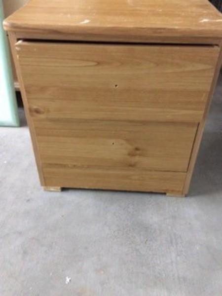 A small wooden dresser