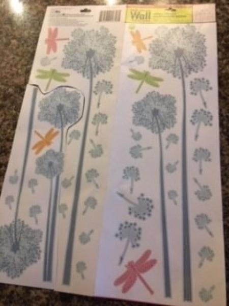 A sheet of furniture sticker designs.