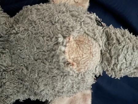 An old stuffed elephant.