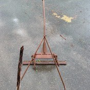An old metal plow.