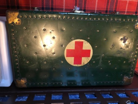 An old Red Cross trunk.