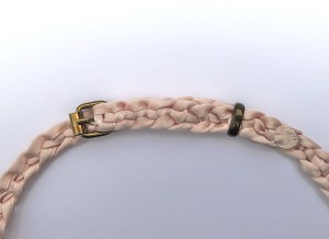 The braided ribbon belt.