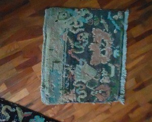 An old woven rug.