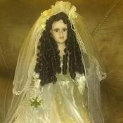 A porcelain bride doll.