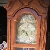 A tall wooden clock.