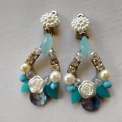 A pair of beaded earrings.