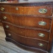 A Mahogany Bow Front Chest of Drawers.