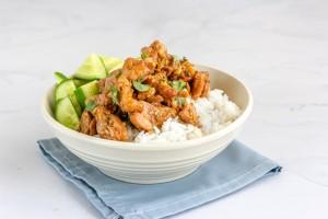 A bowl of Instant Pot Lemongrass Chicken (Ga Kho Sa)