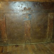 An old wooden chest.