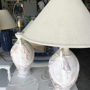 Two decorative lamps.
