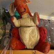An old stuffed kangaroo.
