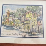 A watercolor painting of Key West.