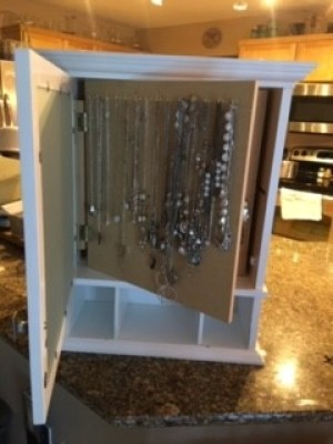 The completed Custom Made Jewelry Box