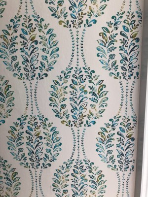 A decorative section of wallpaper.
