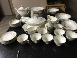 A set of Homer Laughlin china.