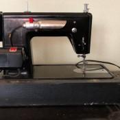 A black sewing machine.