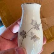 A small china vase.