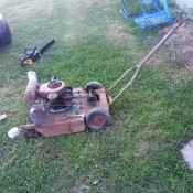 An old gas powered mower.