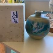 A decorative ceramic vase.