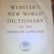 The title page of a dictionary.