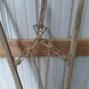 An old farm implement.